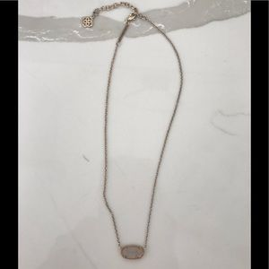 Kendra Scott Gold with white crystal necklace